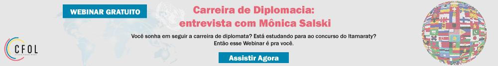 Webinar sobre carreira de diplomacia